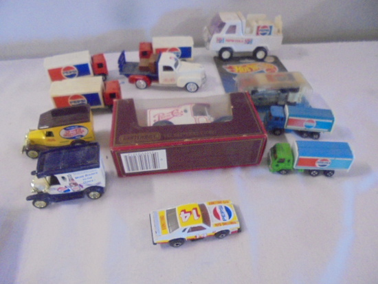 Collection of 12 Vintage Small Pepsi-Cola Trucks