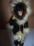 Memeluck Porcelain Eskimo Doll w/ Stans