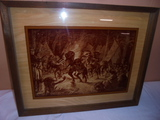 Lucid Lines Photography on Glass Framed Native American Scene