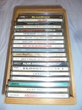 19 Country Music CDs in Wooden Holder