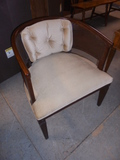 Cane Side Upholstered Side Chair
