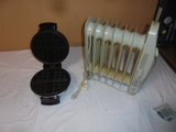Oster Waffle Maker and Small Radiant Heater