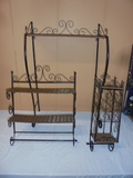3pc Wicker and Metal Bathroom Set