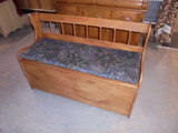 Solid Wood Cushion Seat Storage Bench