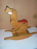 Solid Wood Rockin g Dog