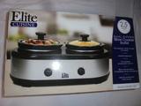 Elite Cuisine 2.5 Quart Double Dipper Slow Cooker