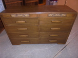 8 Drawer Solid Wood  Dresser w/2 Divided Drawers on Top