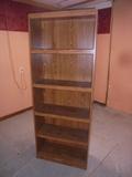 6 Shelf Bookcase w/3 Adjustable Shelves