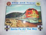 Santa Fe Metal Railroad Sign