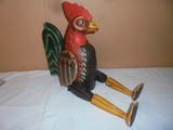 Wooden Rooster Shelf Sitter