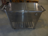 Double Stainless Steel Rolling Cooler