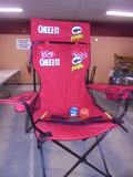 Large Cheez-It/Pringles Folding Camp Chair w/Games