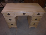 Painted Knee Hole 7 Drawer Desk