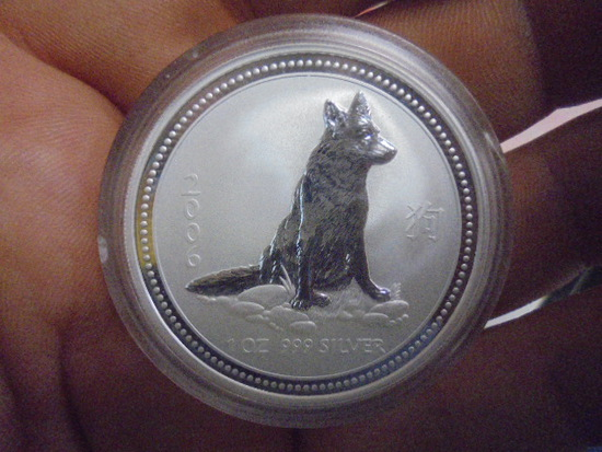 2006 1oz .999 Silver Elizabeth II Austrailia Dollar