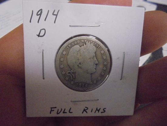 1914 D Mint Barber Quarter