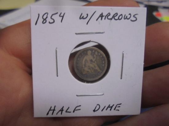 1842 Half Dime with Arrows