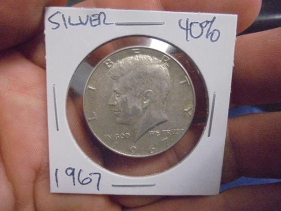 1967 40% Silver Kennedy Half Dollar