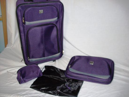 Purple Luggage Set