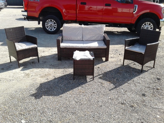 4 Pc All-Weather Wicker Patio Set
