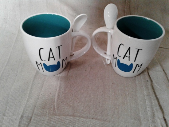Cat Mom Spoon Mugs