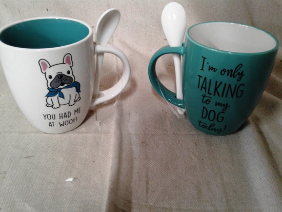 Dog Spoon Mugs