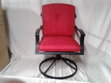 Swivel Padded Patio Chair