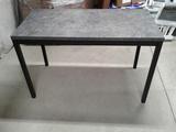Metal Leg Composite Top Table