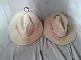 Pair of Woven Panama Hats