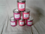 Set of 6 scented candles