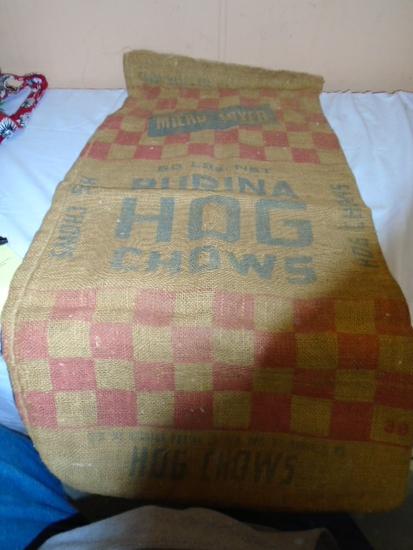 50lb Purina Hog Chow Burlap Sack
