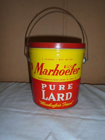 Marhoefer 4lb Lard Can w/ Lid