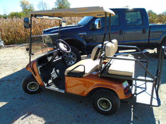 EZ-GO Electric Golf Cart w/ Rear Fold Down Seat-Headlights-Turn Signals-Tail and Break Lights-Mirros