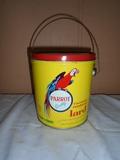 Vintage 4lb Parrot Lard Can w/ Lid