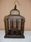Wood and Metal Bird Cage Décor Piece