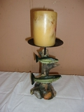 Double Fish Candle Holder w/ New Candle