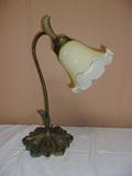 Metal Glass Shade Tulip Lamp