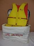 (4) Cyprus Gardens Alduct Ski Vests in Storage Bag