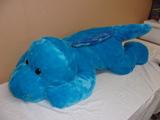 Large Blue Plush Dinosaur