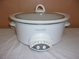 Large Oval Programable Crock Pot w/ Lift Out Liner