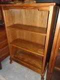 Oak Bookcase w/ Ball and Claw Feet w/ 3 Shelves