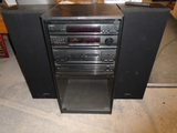 Sony Stereo System w/ 5 Disc CD Changer-2 Speakers and Remote