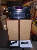 Sony 5 Disc CD Player w/ Remote-Onkyo Stereo Reciever-University Sound Speakers