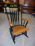 Beautiful Painted Wood Rocking Chair