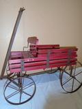 Wood and Metal Buckboard Style Wagon