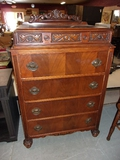 Antique 5 Drawer Chest on Chest