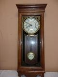 Verichron Quartz Wood Case Wall Clock w/ Westminster Chimes