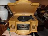 Philco Oak Case Table Top Stereo