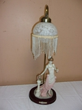Lady Table Lamp w/ Glass Shade