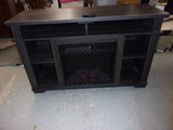 Chimney Free Electric Fireplace TV Console w/ Heat and Remote-Like New