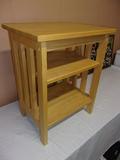 Solid Oak 3 Tier Side Table